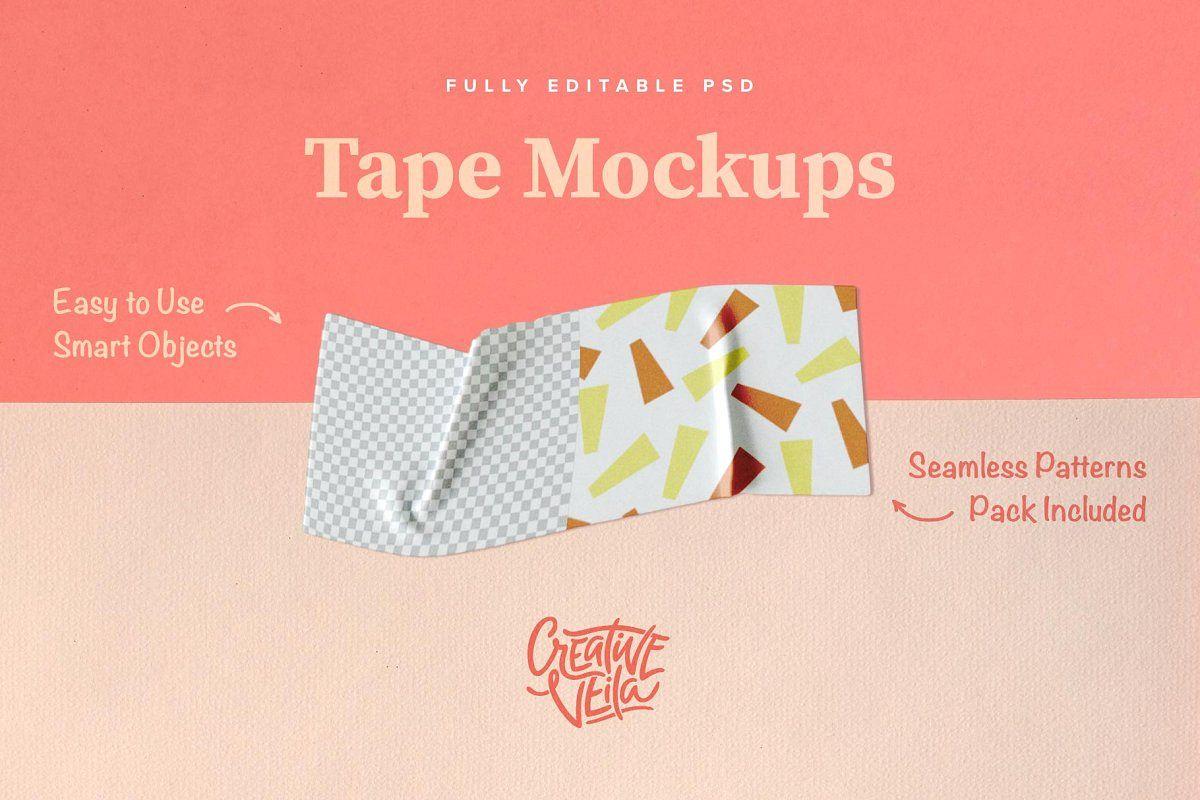 Washi Tape PSD Mockups example image 1