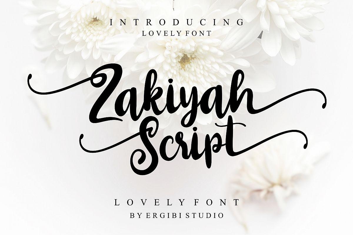 Zakiyah Lovely Font example image 1