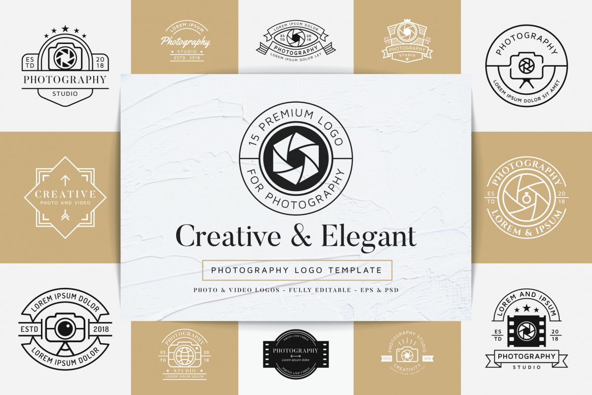 15 Premium Photography Logo example image 1