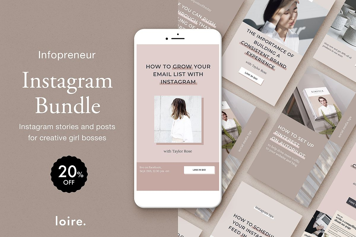 Instagram marketing bundle for bloggers example image 1