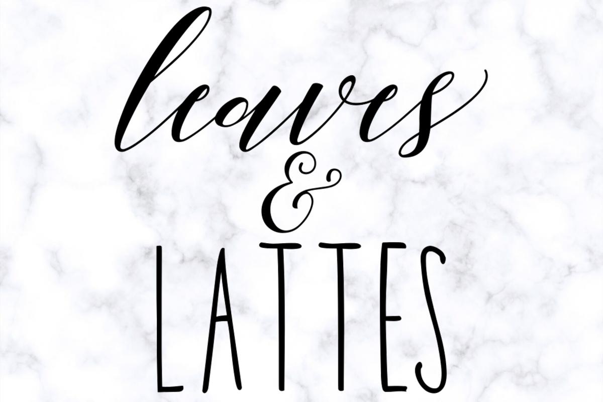 Leaves & Lattes Fall SVG Digital Cut File example image 1