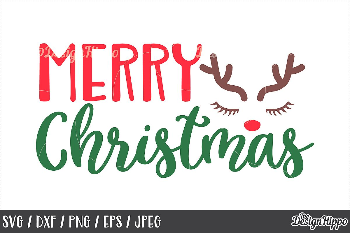 Merry Christmas Images Png.Christmas Reindeer Merry Christmas Svg Dxf Png Cut Files
