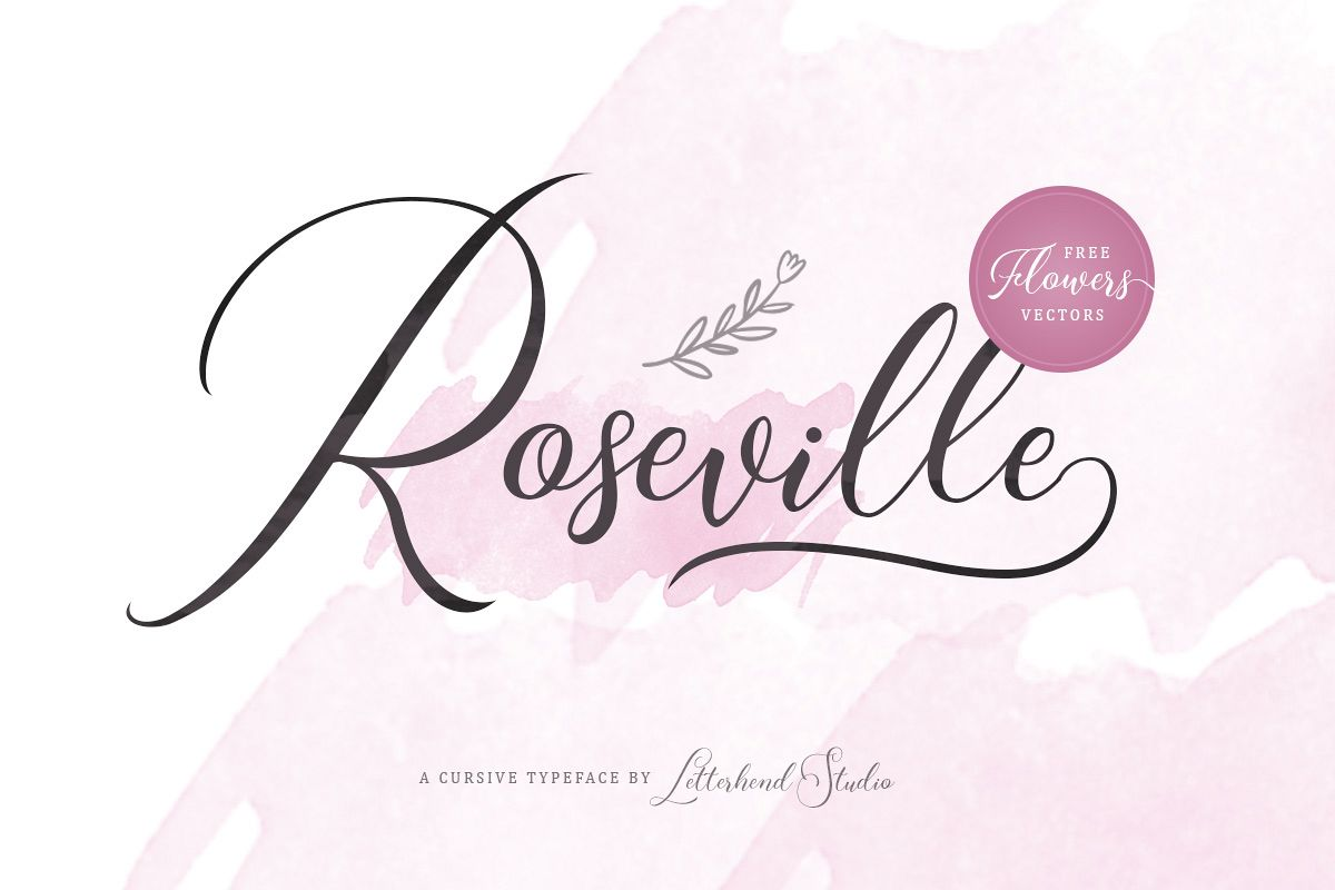 Roseville Script example image 1