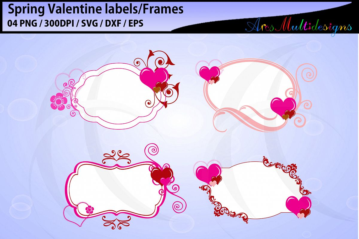 Spring valentine labels / valentine labels and tags example image 1