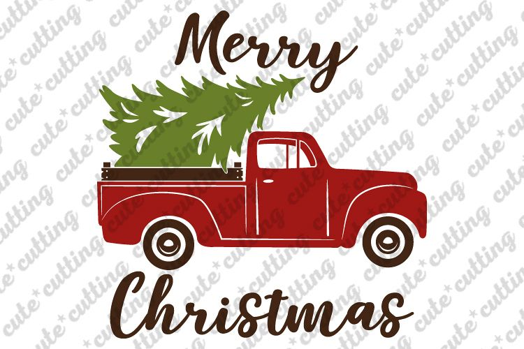 Christmas Truck Svg.Christmas Truck With Tree Svg Dxf Pdf Jpeg