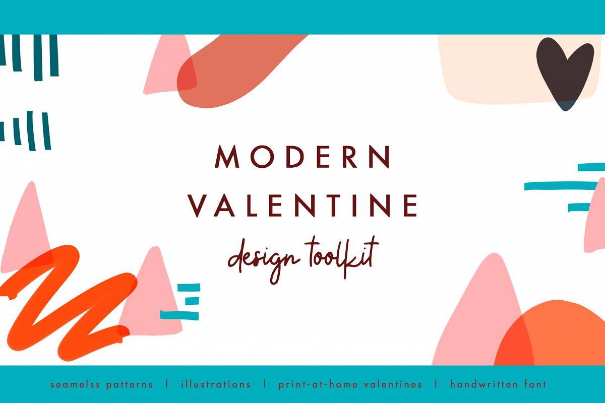 Modern Valentine - Design Toolkit example image 1