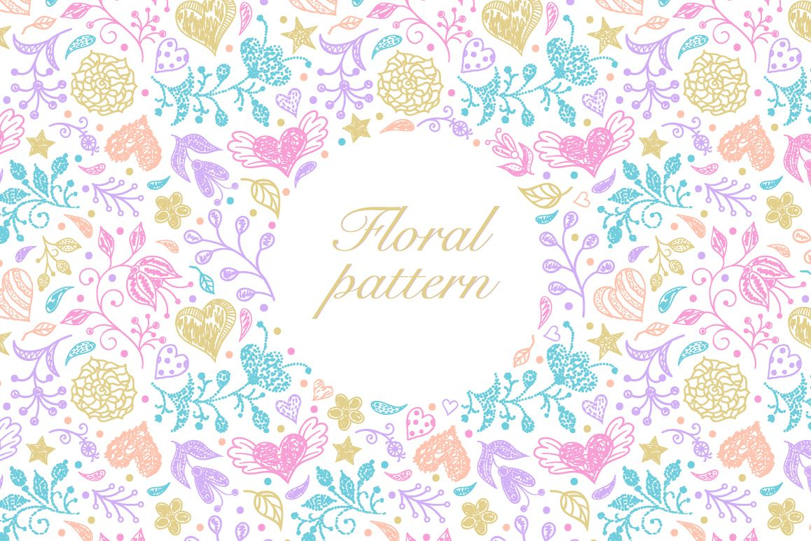 Pastel floral pattern example image 1