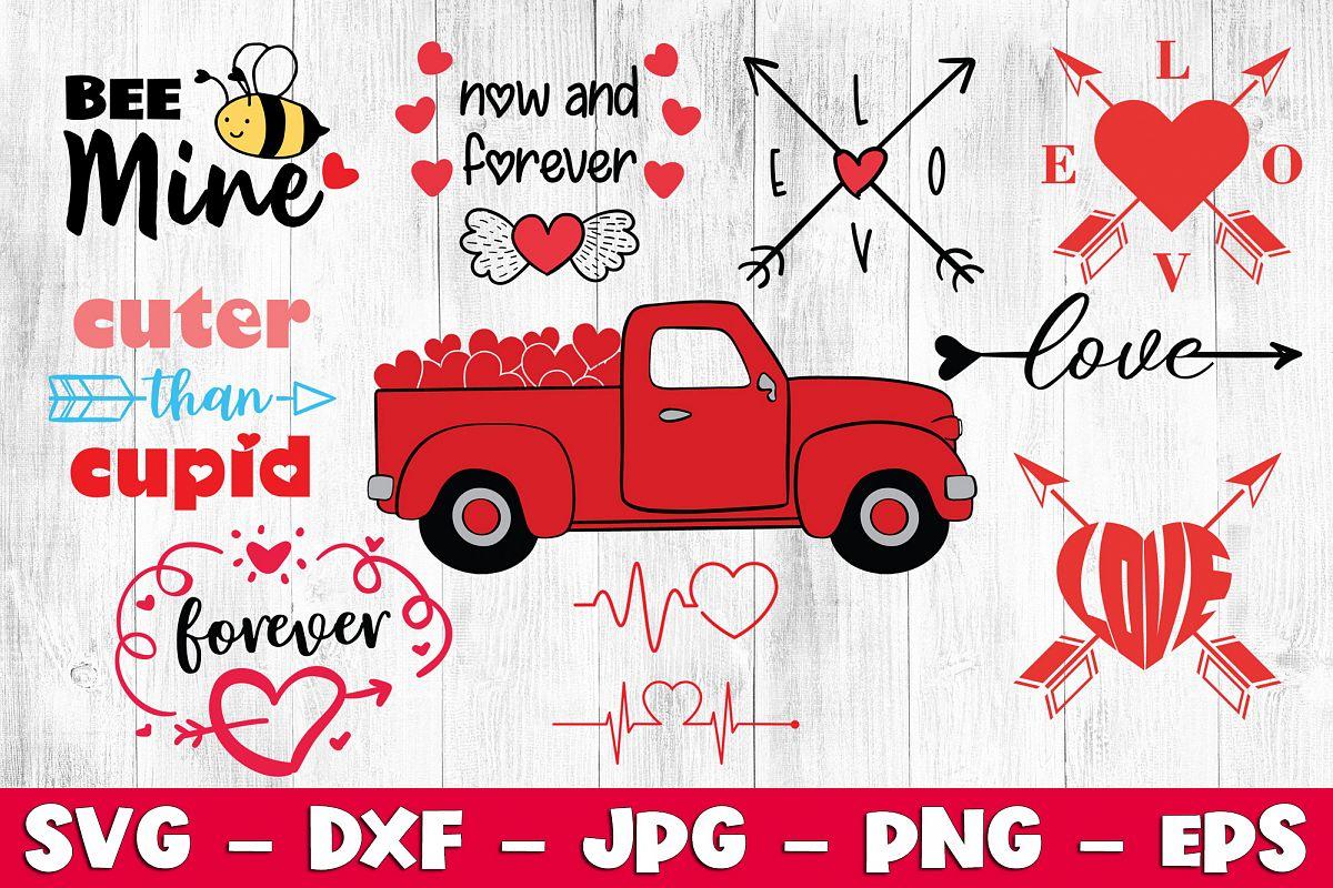 Valentine Bundle SVG EPS PNG JPG Valentine's Day Bundle SVG example image 1