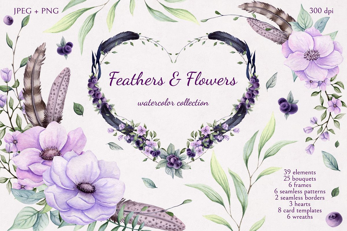 Feathers & Flowers example image 1