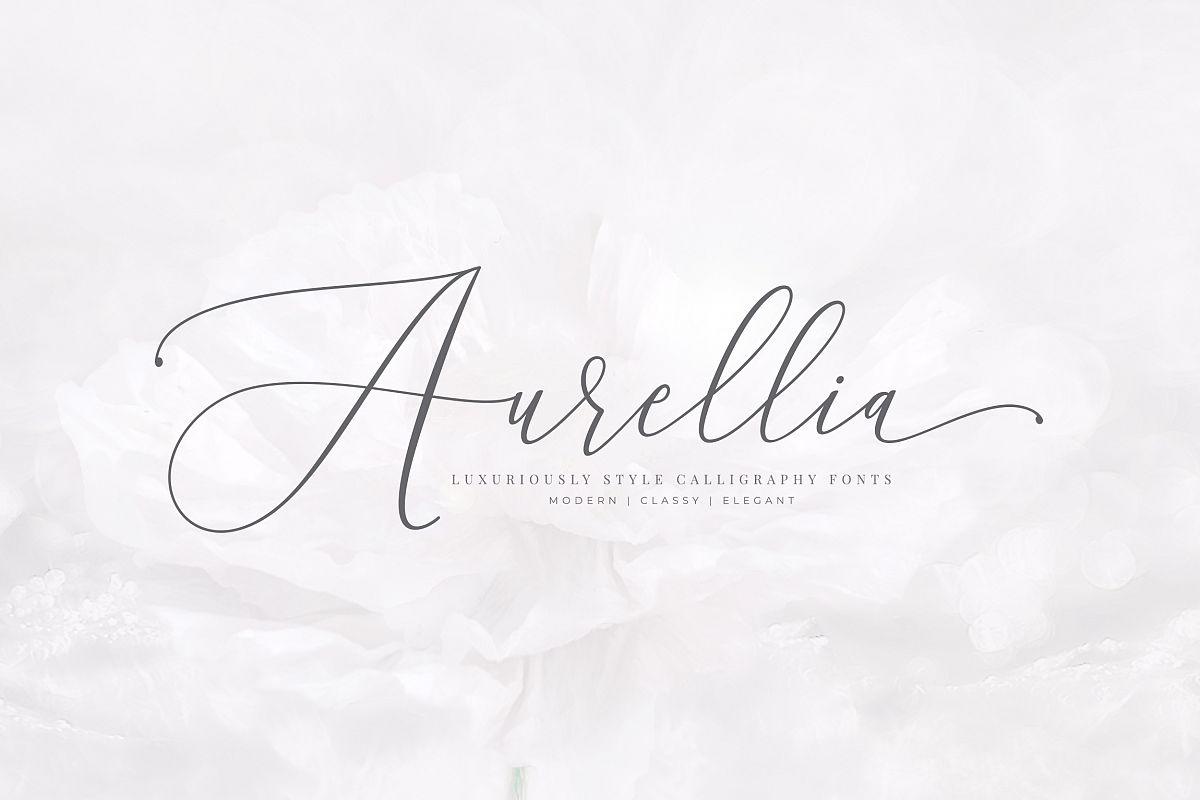 Aurellia Script Classy Fonts Example Image