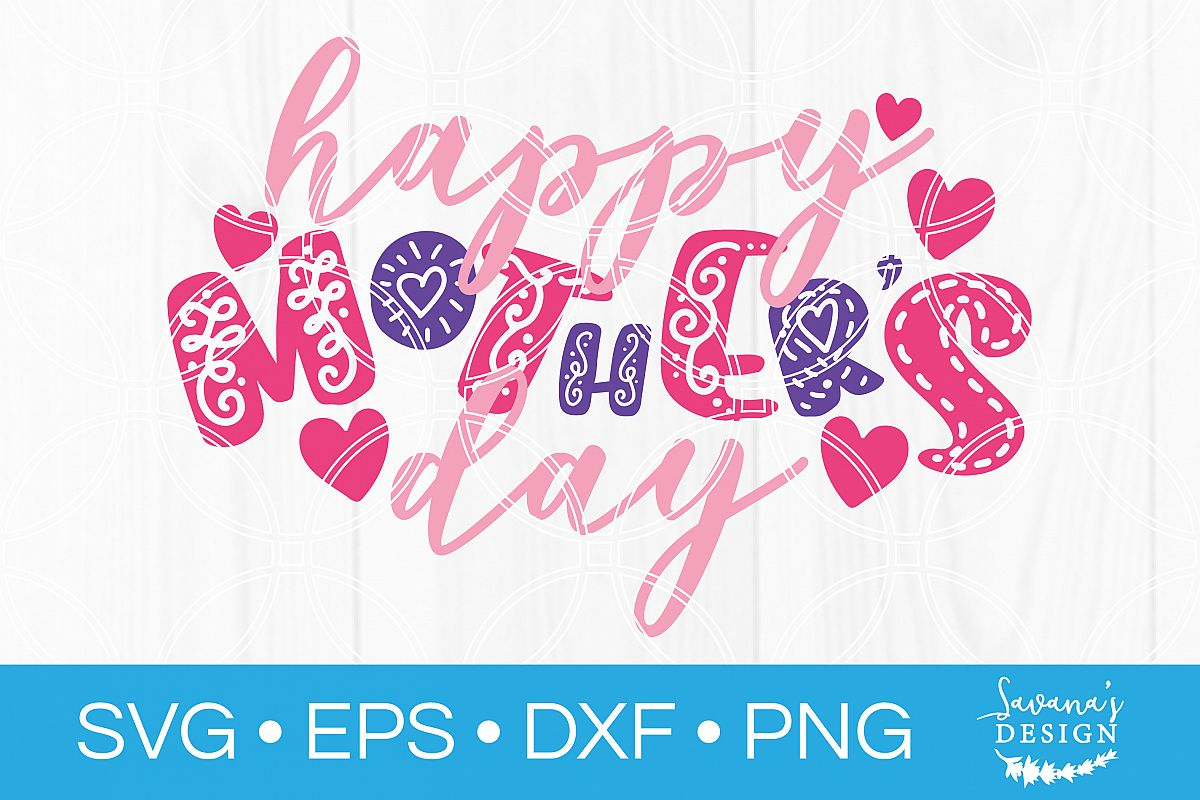 Happy Mothers Day SVG Cut File | Create Card for Mom example image 1