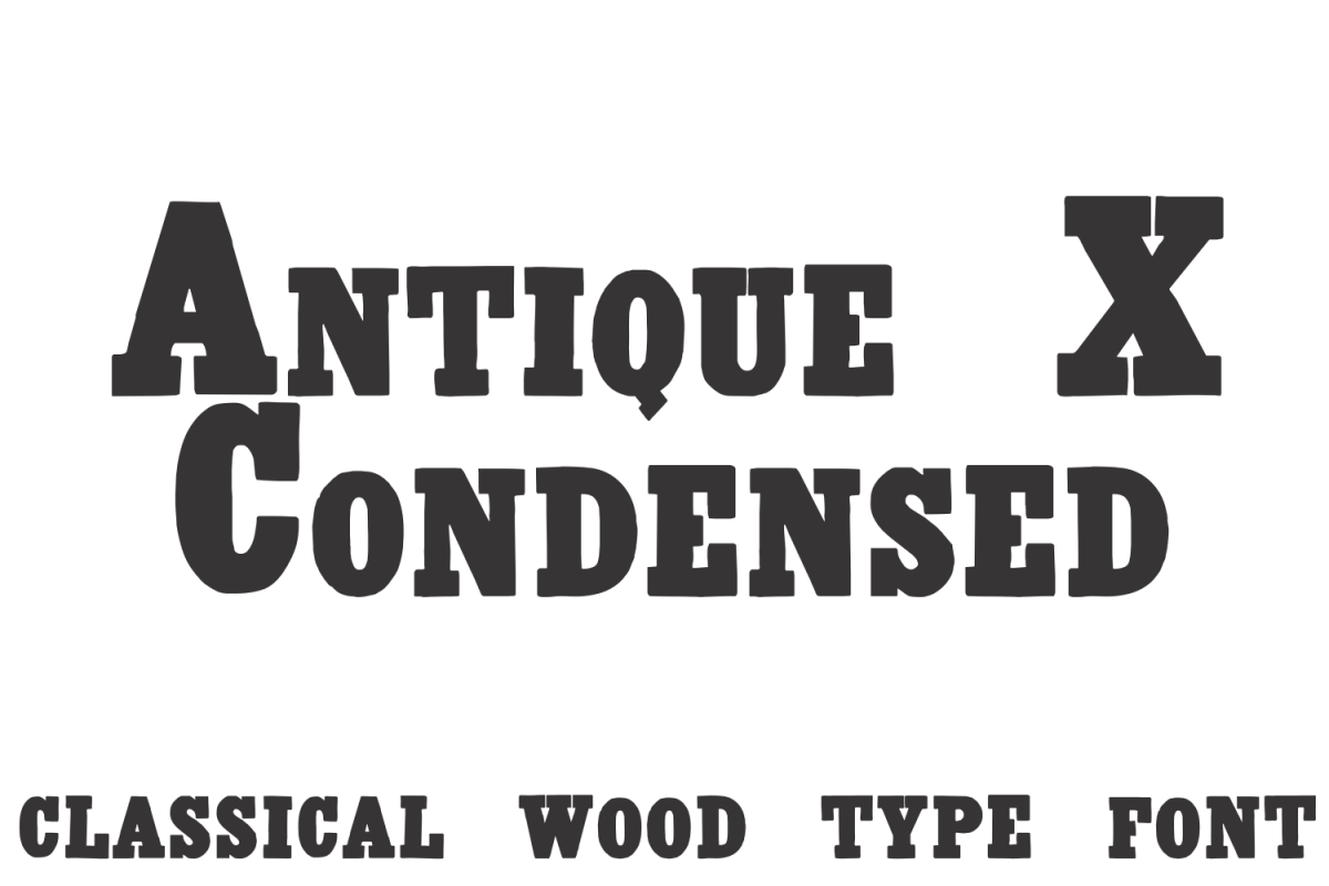 Antique X Condensed  example image 1