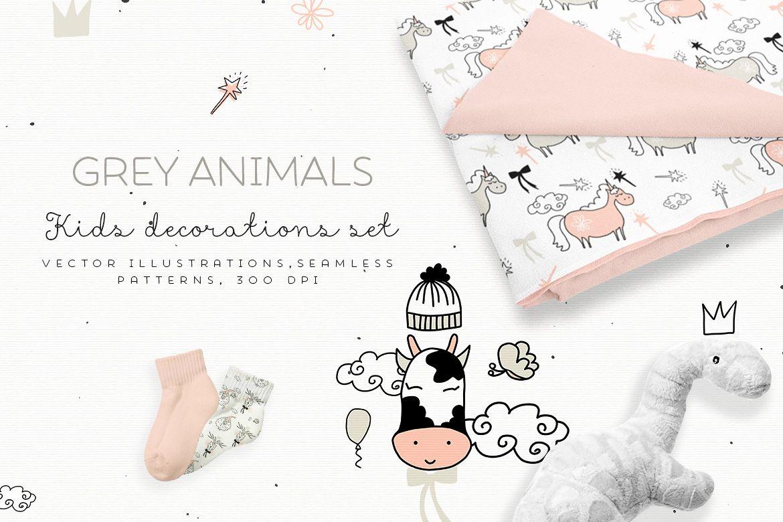 Grey Animals  example image 1