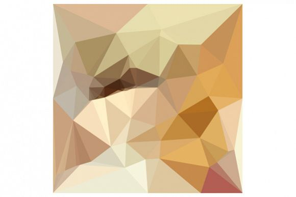 Corn Yellow Beige Abstract Low Polygon Background example image 1
