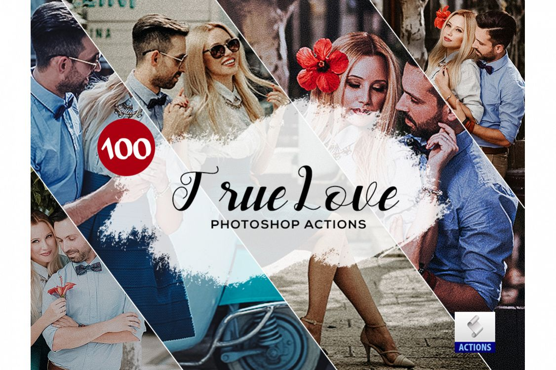 100 True Love Photoshop Actions example image 1