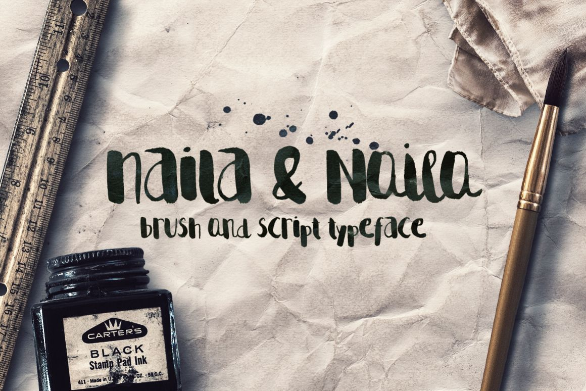 Naila Script Typeface example image 1