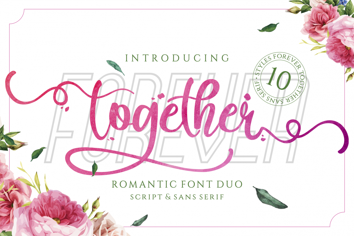 Forever Together - Romantic Font Duo example image 1