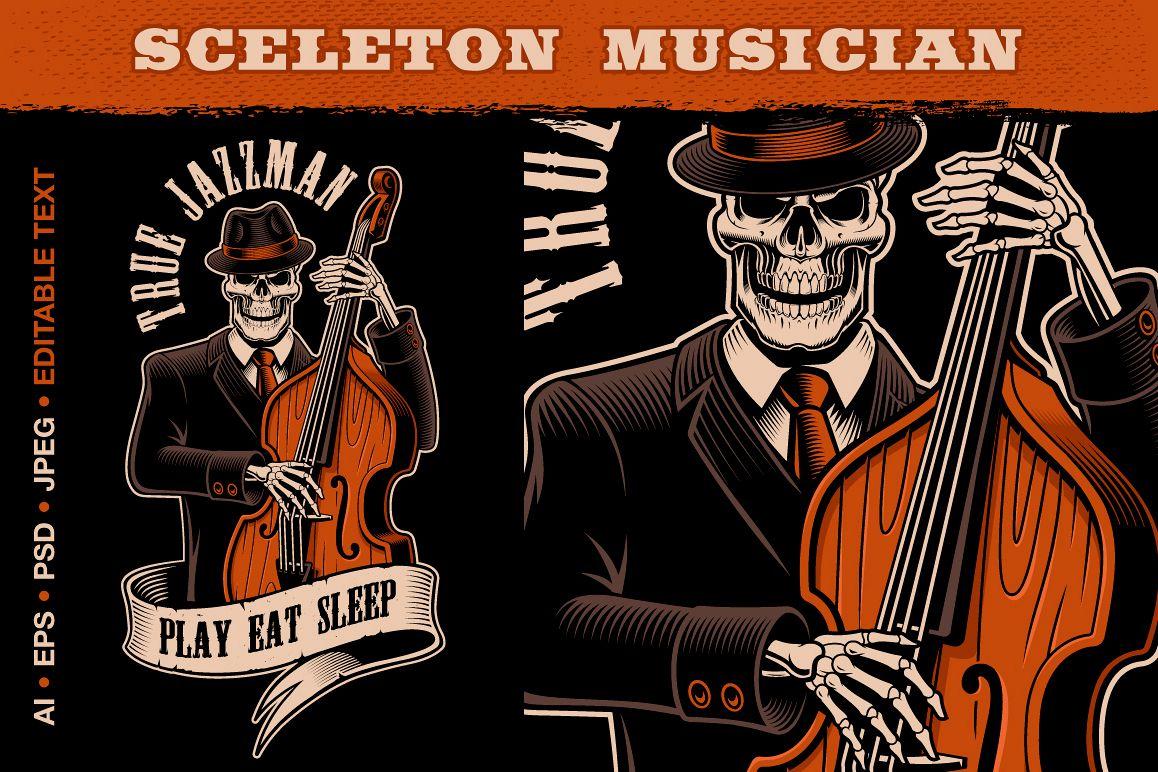 Skeleton Musician example image 1