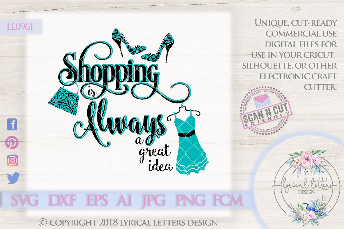 Shopping is Always a Great Idea SVG Cut File LL096F example image 1