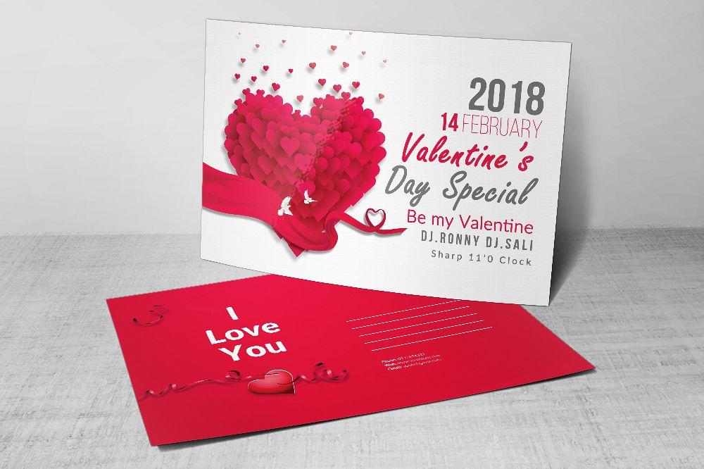 Valentine's Love Day Postcards example image 1