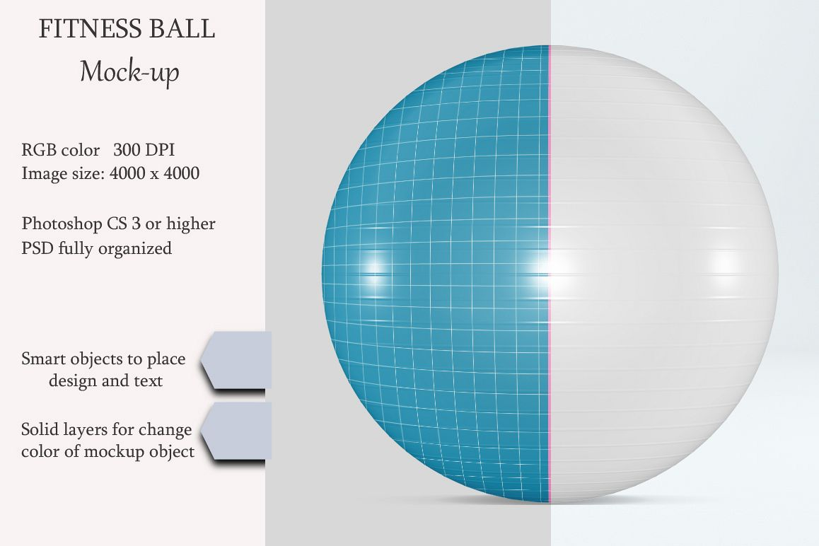 Fitness ball mockup. Exercise ball. Product mockup. example image 1