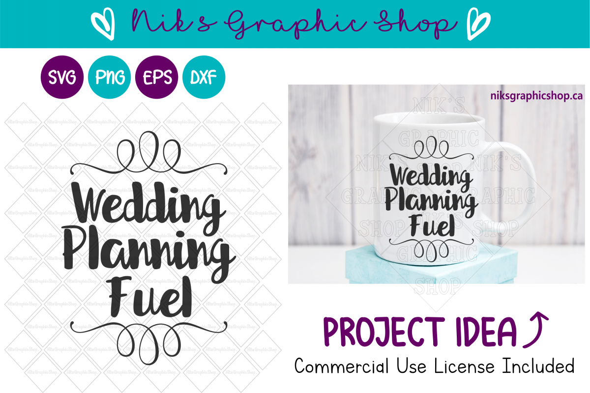 Wedding Fuel Svg, Wedding Svg, Wedding Mug Svg, Coffee Svg example image 1