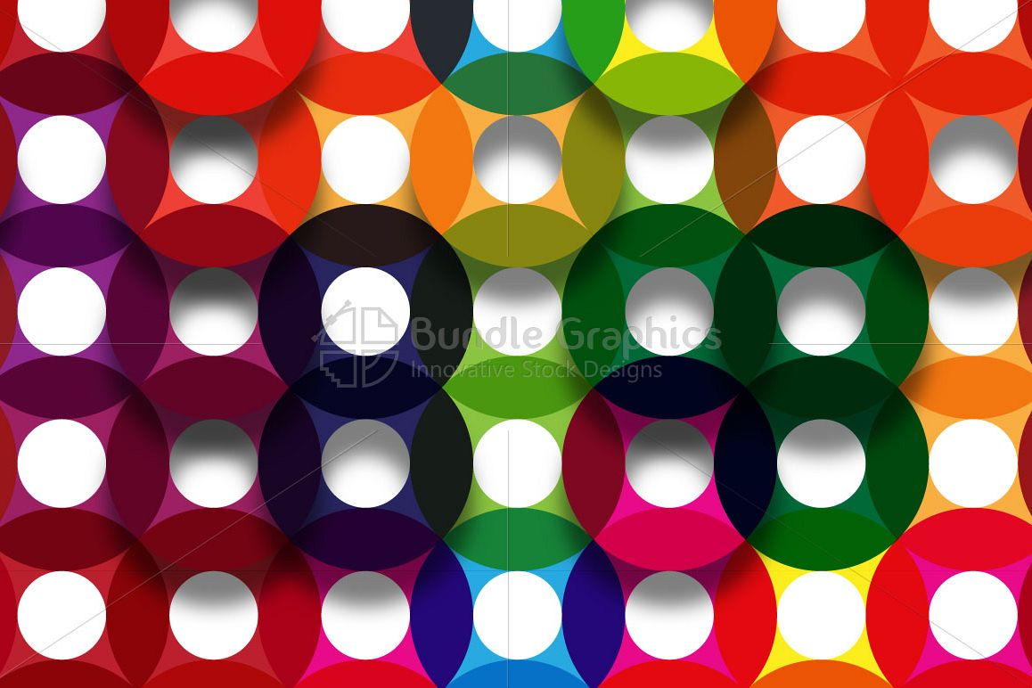 Colorful Circles - Vibrant Background example image 1