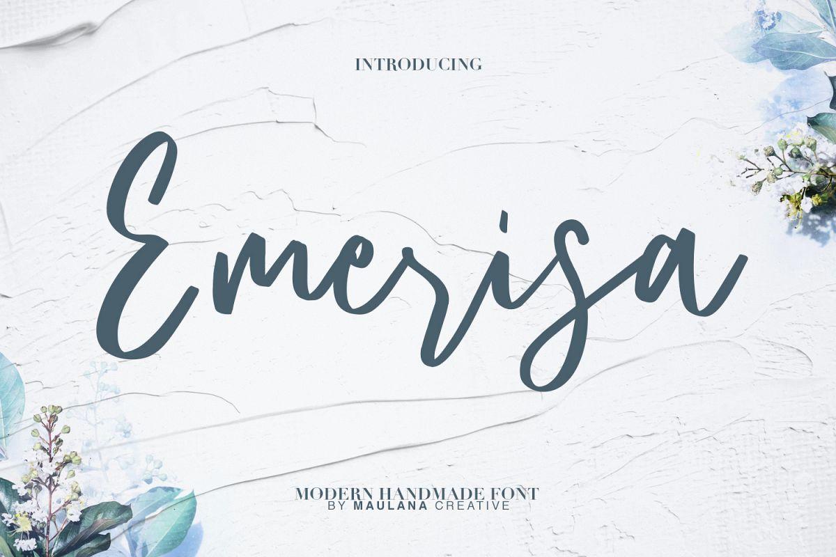 Emerisa Modern Brush Script example image 1
