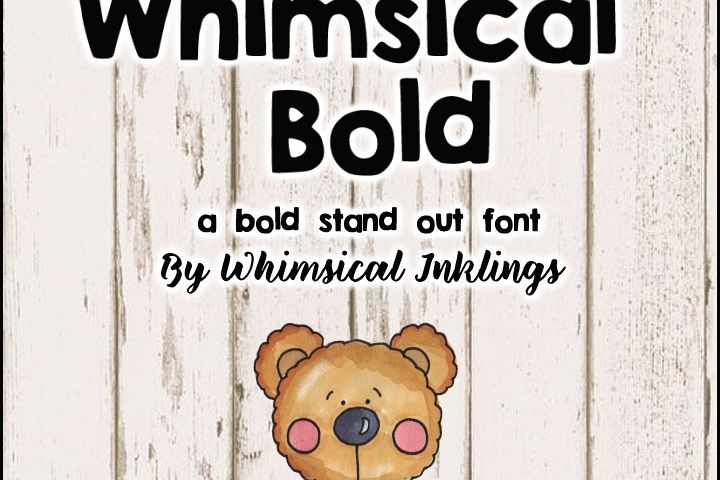 Whimsical Bold Font example image 1