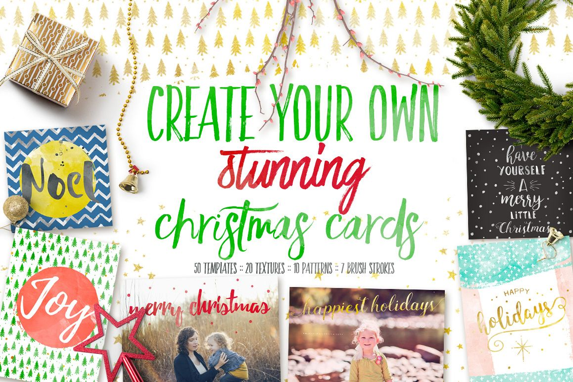 Design your own christmas cards by 7th design bundles design your own christmas cards example image solutioingenieria Images