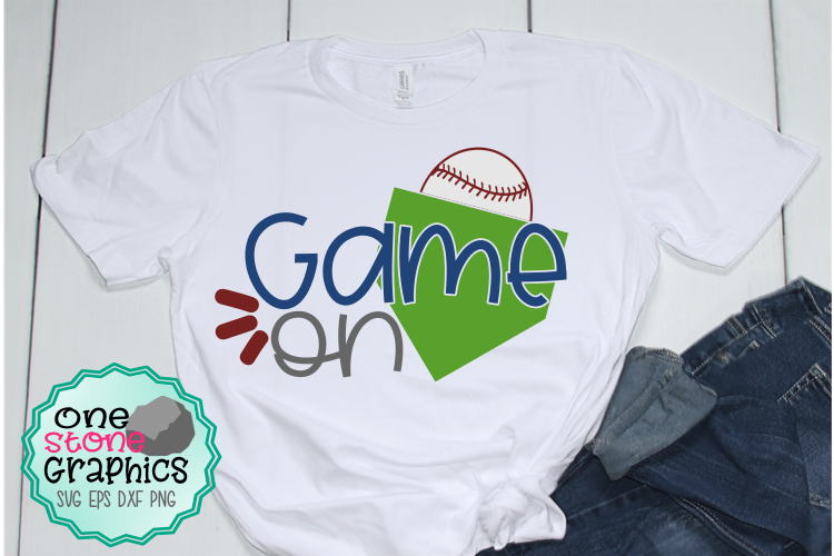 Game on svg,baseball svg,baseball svgs example image 1