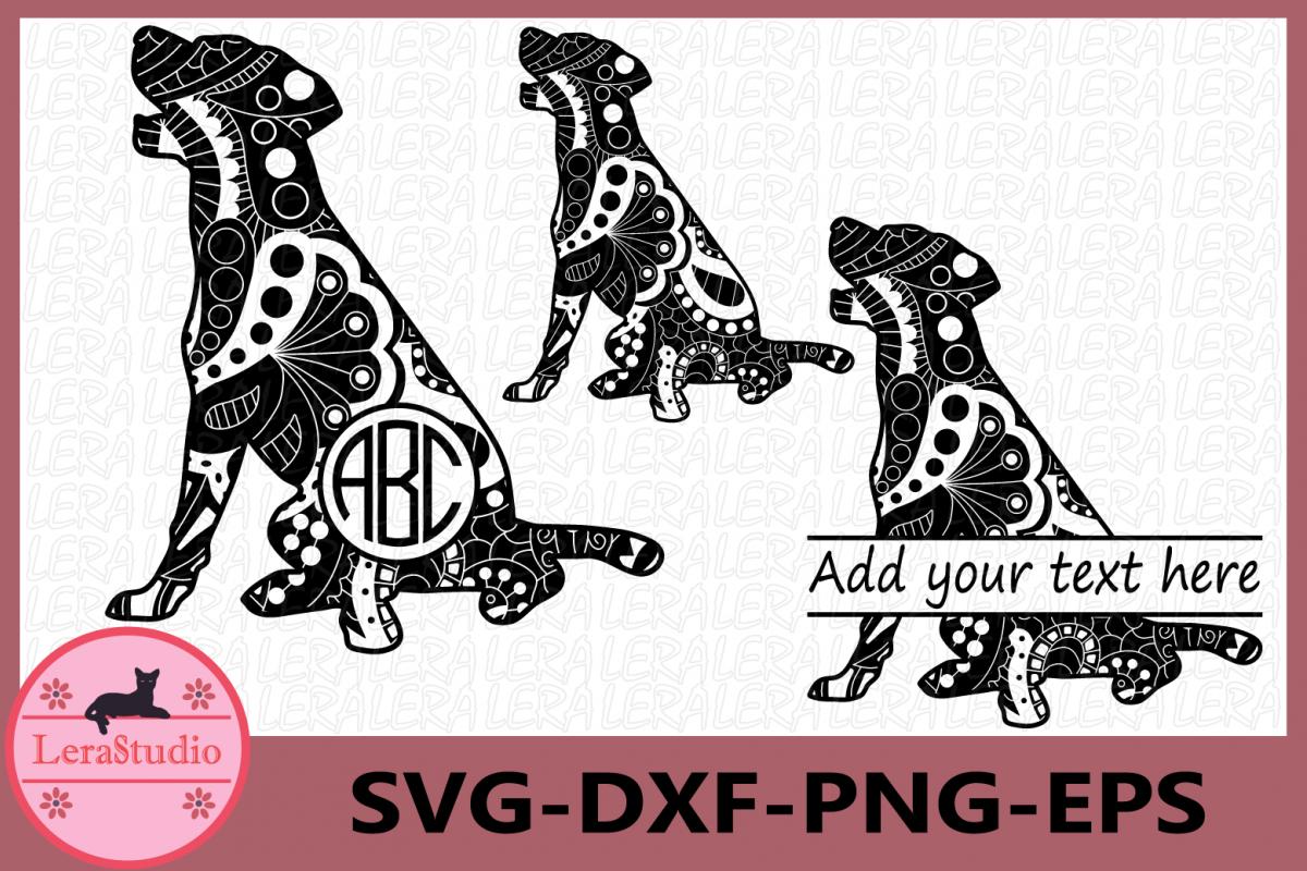 Dog Zentangle SVG, Animals Svg, Dog svg, Dog Monogram svg example image 1