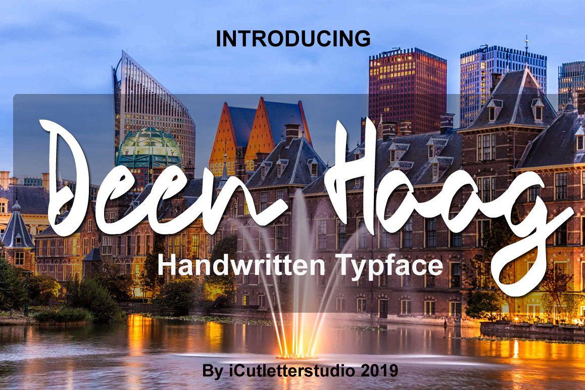 Deen Haag - Handwritten Typeface example image 1