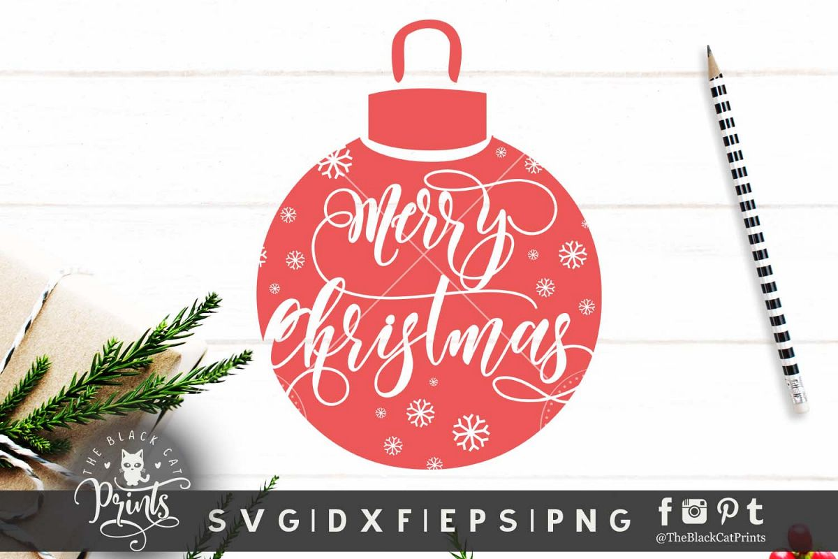 Png Christmas Ornament.Merry Christmas Ornament Svg Dxf Eps Png