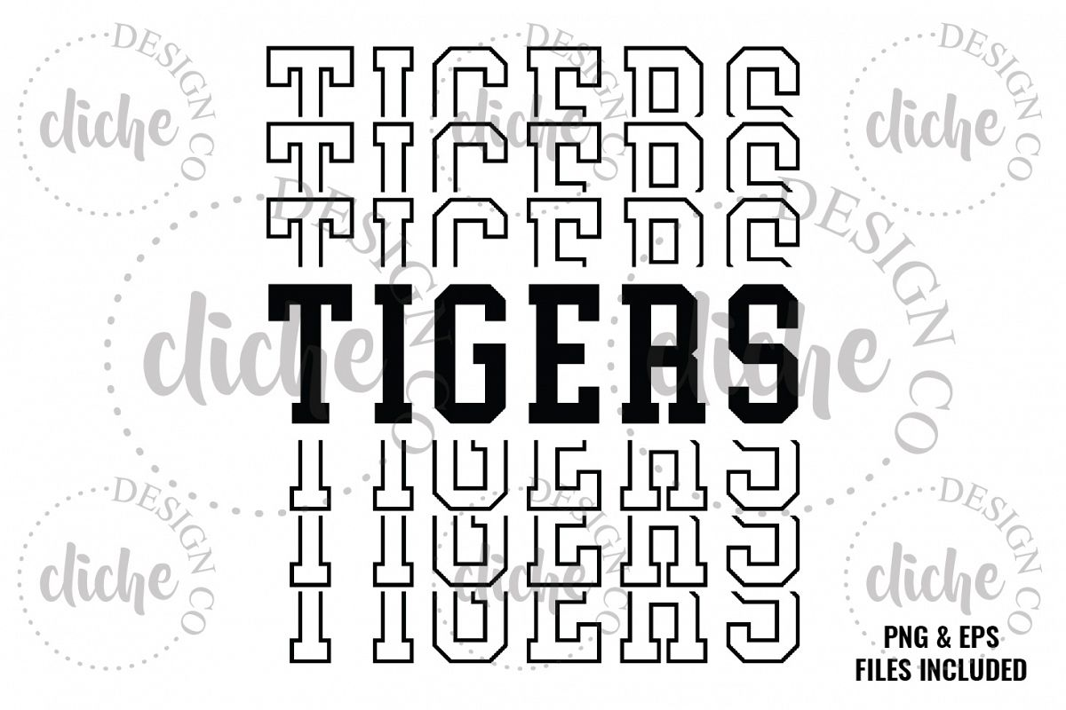 Tigers Sublimation Design & Bonus Vector Files example image 1