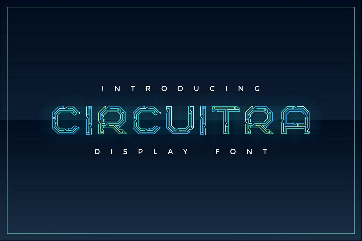 Circuitra - Color Font example image 1