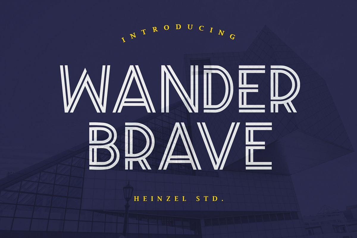 Wander Brave Typeface example image 1