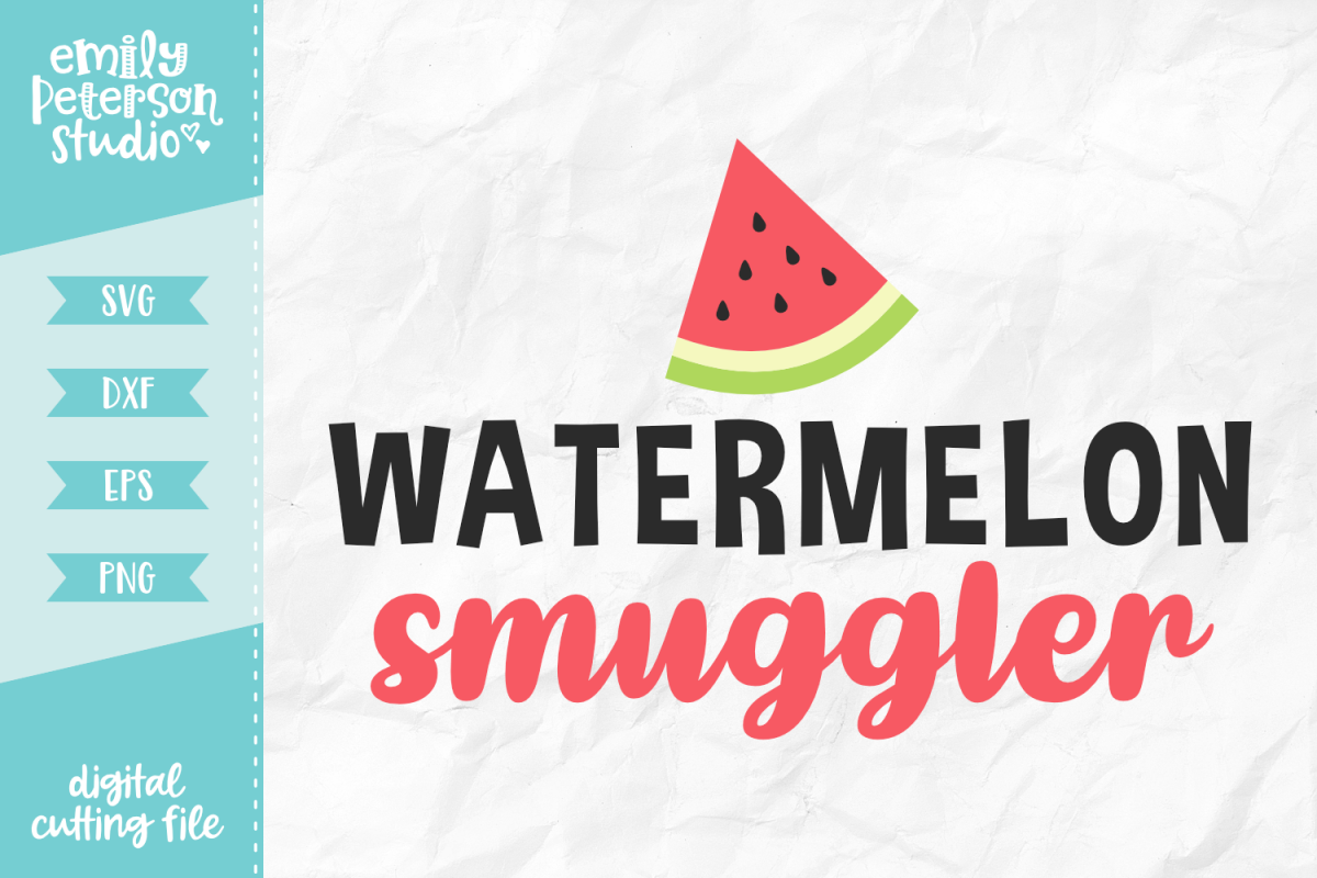 Watermelon Smuggler SVG DXF EPS PNG example image 1