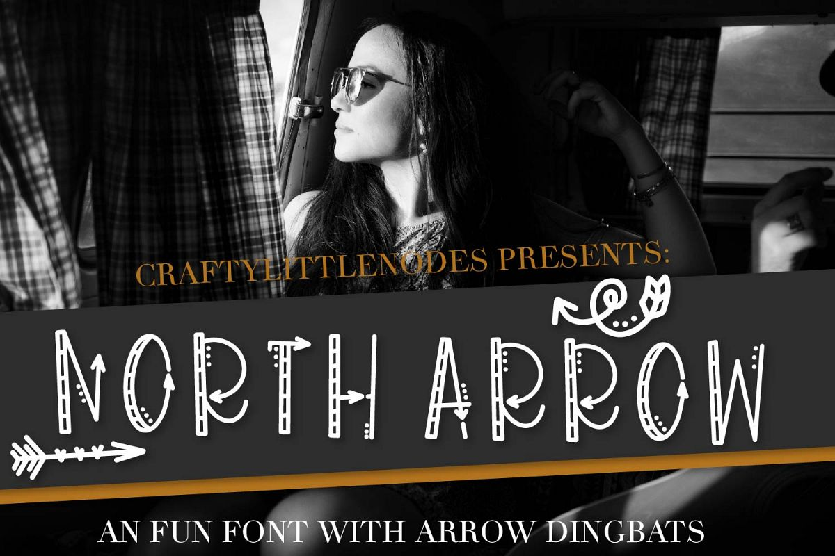 North Arrow - An Arrow Font & Dingbat Duo example image 1