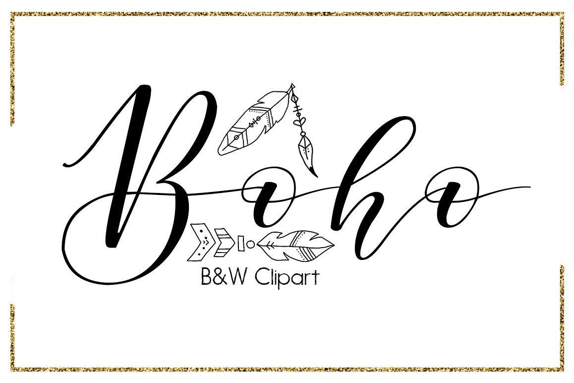 Boho Brush Strokes-digital clipart-indian clipart-Circle-arrow  clipart-Planner clipart-black and white clipart-feather clipart-outline  Clipart