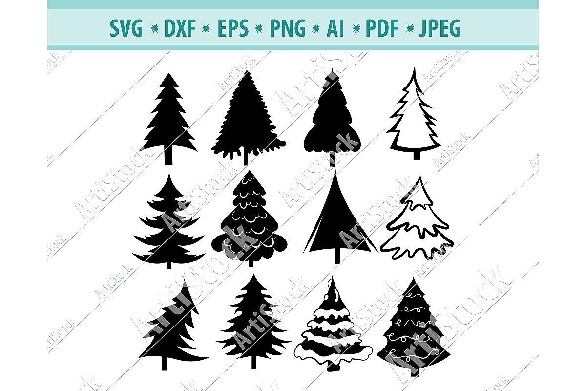 Christmas Tree Svg,Christmas design svg,Christmas Png,Dxf example image 1