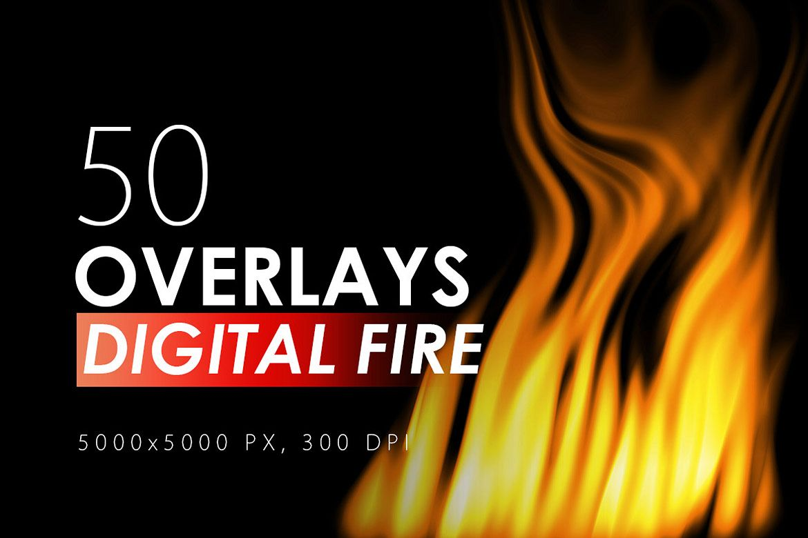 50 Digital Fire Overlays example image 1