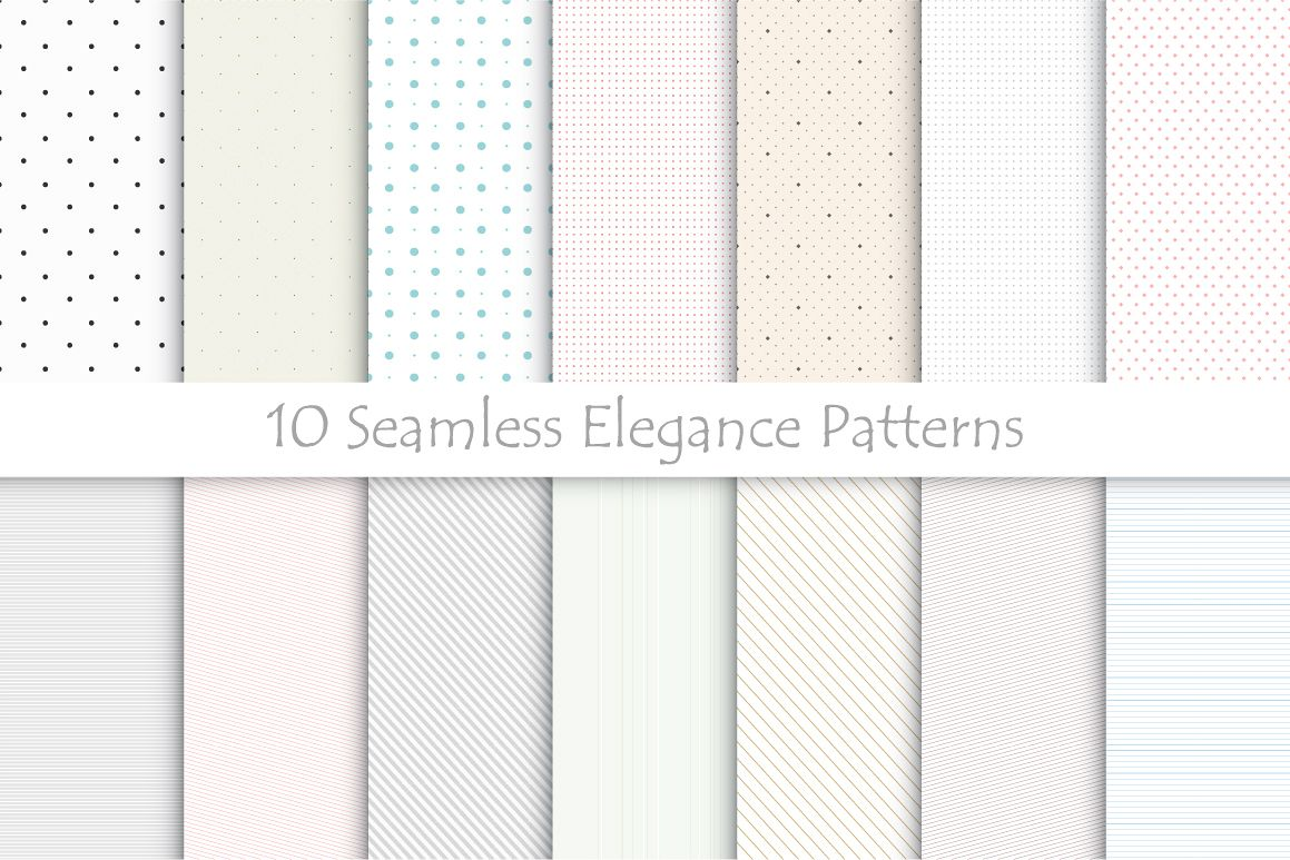 Delicate seamless patterns. example image 1