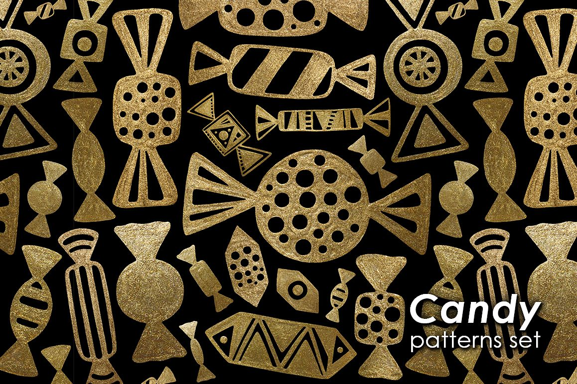GOLD CANDY patterns set example image 1