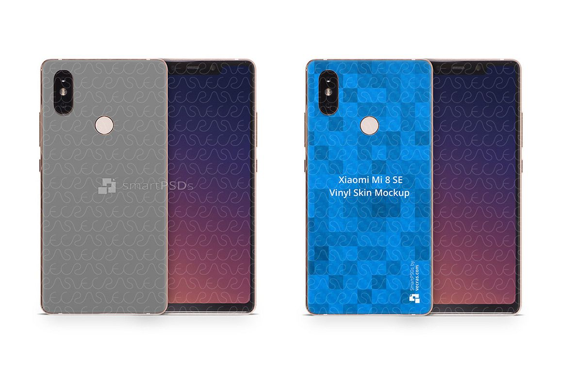 Xiaomi Mi8 SE 2018 PSD Skin Mockup Template example image 1