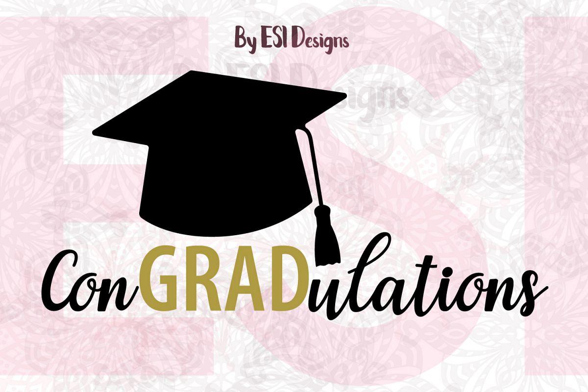 congradulations graduation cap design svg dxf eps png