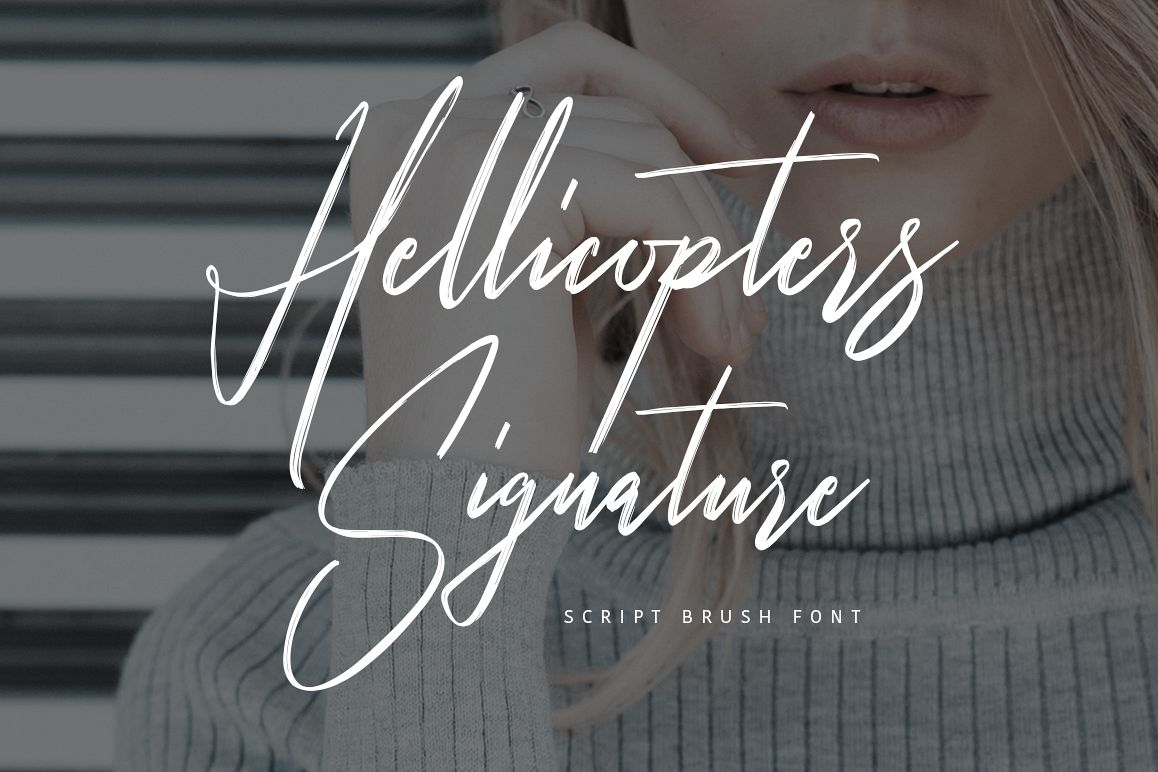 Hellicopters Brush Font example image 1