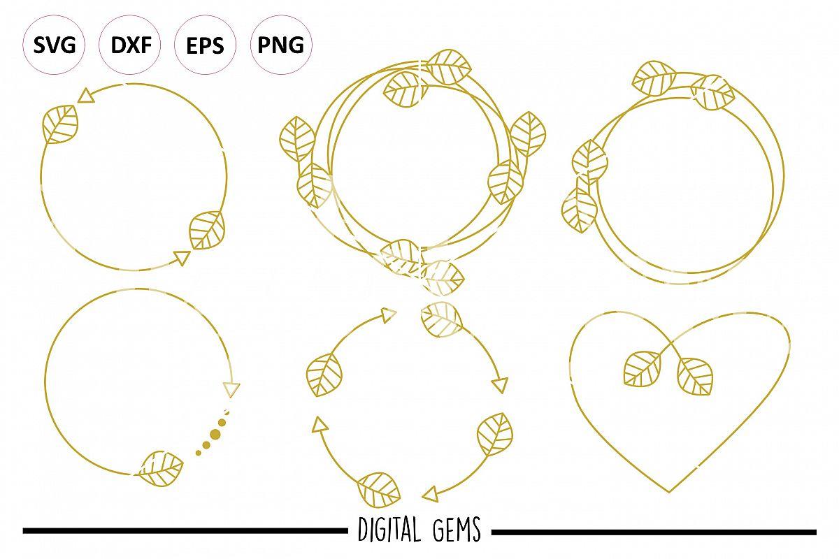 Monogram frame bundle SVG / PNG / EPS / | Design Bundles