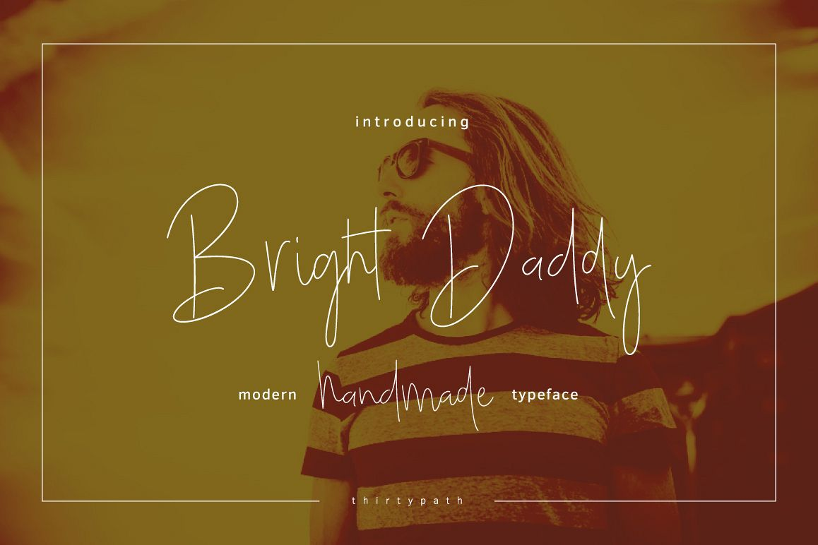 Bright Daddy typeface example image 1