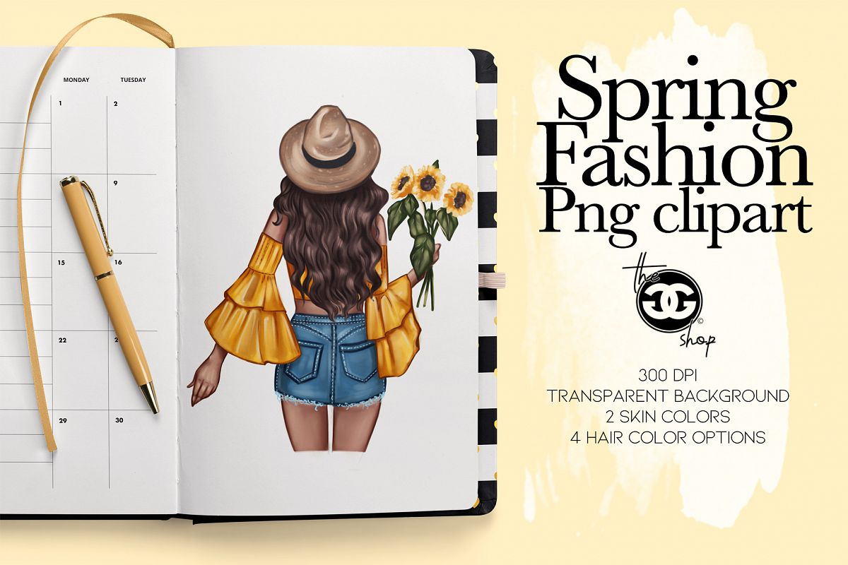 Fashion Clipart // Spring Clipart // Fashion Illustration // example image 1